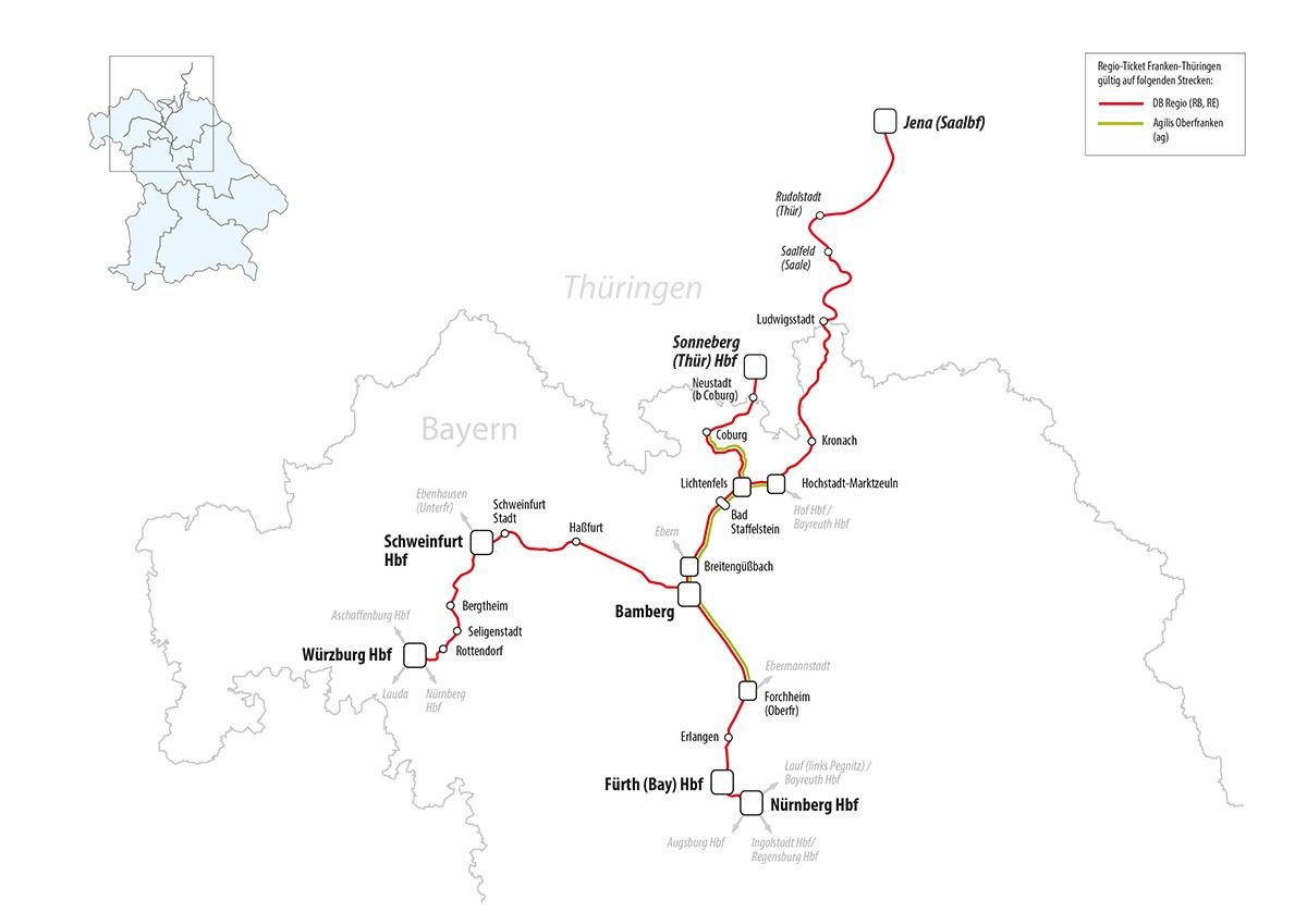 Thüringen Ticket Geltungsbereich : regio ticket franken th ringen bahnland bayern ~ Watch28wear.com Haus und Dekorationen