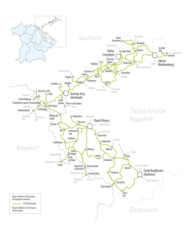 Sachsen-Böhmen billett enkelt