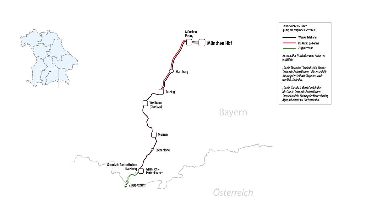 Garmischer Ski Ticket Bahnland Bayern